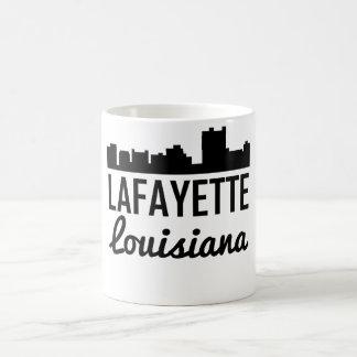 Caneca De Café Skyline de Lafayette Louisiana