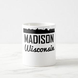 Caneca De Café Skyline de Madison Wisconsin