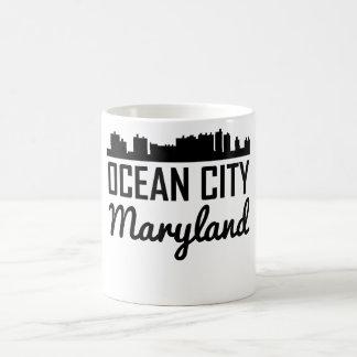 Caneca De Café Skyline de Maryland da cidade do oceano