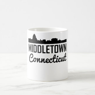Caneca De Café Skyline de Middletown Connecticut