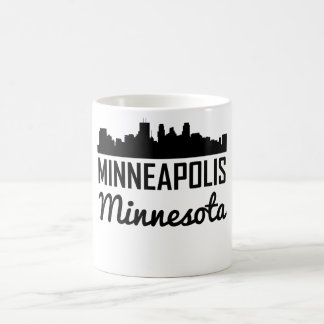 Caneca De Café Skyline de Minneapolis Minnesota