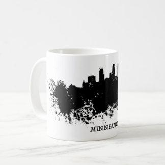 Caneca De Café Skyline de Minneapolis - pintura de Splat