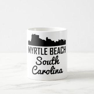Caneca De Café Skyline de Myrtle Beach South Carolina