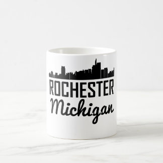 Caneca De Café Skyline de Rochester Michigan