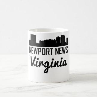 Caneca De Café Skyline de Virgínia da notícia de Newport
