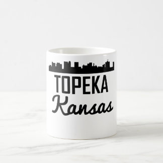 Caneca De Café Skyline do Topeka Kansas