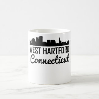 Caneca De Café Skyline ocidental de Hartford Connecticut