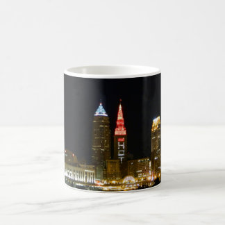 Caneca De Café Skyline quente de Cleveland