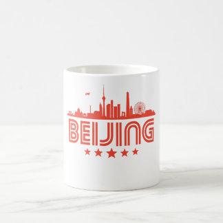 Caneca De Café Skyline retro de Beijing