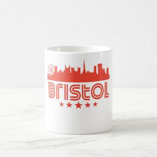 Caneca De Café Skyline retro de Bristol