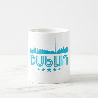 Caneca De Café Skyline retro de Dublin