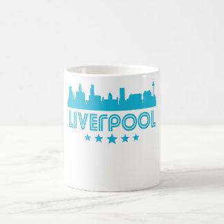 Caneca De Café Skyline retro de Liverpool