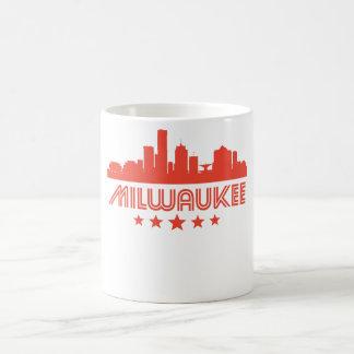 Caneca De Café Skyline retro de Milwaukee