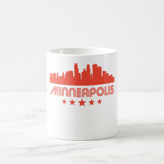 Caneca De Café Skyline retro de Minneapolis
