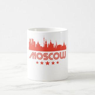 Caneca De Café Skyline retro de Moscovo