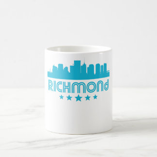 Caneca De Café Skyline retro de Richmond