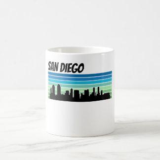Caneca De Café Skyline retro de San Diego