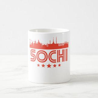 Caneca De Café Skyline retro de Sochi