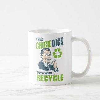 Caneca De Café Slogan retro engraçado do reciclagem