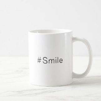 caneca de café #Smile do sorriso de | Hashtag