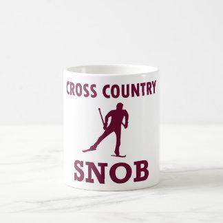 Caneca De Café Snobe do esqui do país transversal