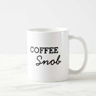 Caneca De Café Snobe simples do café
