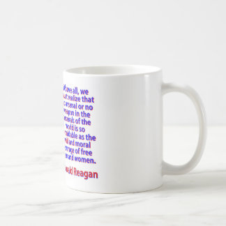 Caneca De Café Sobretudo nós devemos realizar - Ronald Reagan