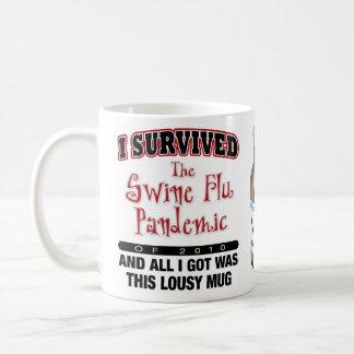 Caneca De Café Sobrevivente da gripe dos suínos