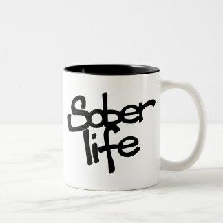Caneca de café sóbrio da vida