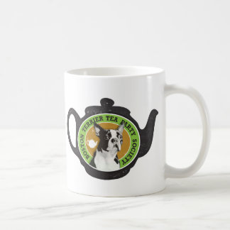 Caneca De Café Sociedade do tea party de Boston Terrier