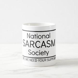 Caneca De Café Sociedade nacional do sarcasmo