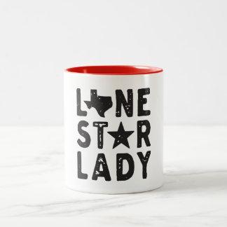 Caneca de café solitária da senhora Texas da
