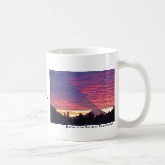 Caneca De Café Sombra da montanha - o Monte Rainier