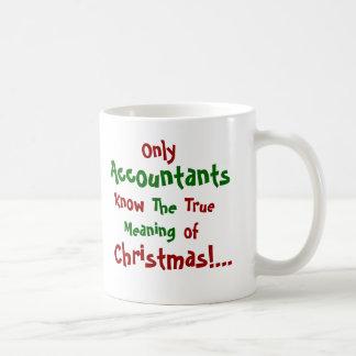 Caneca De Café Somente Natal dos contadores… - frente e verso