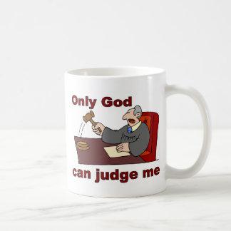Caneca De Café Somente o deus pode julgar-me dizer cristão