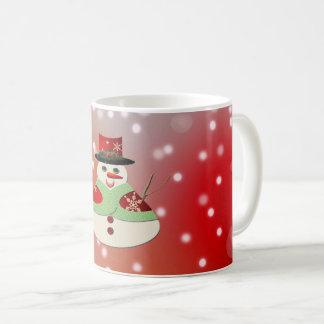 Caneca De Café Sonhos nevado do boneco de neve alegre