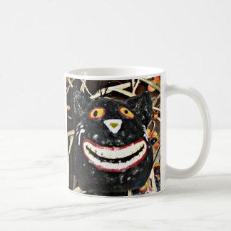 Caneca De Café Sorrindo o gato preto