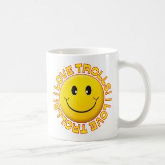 Caneca De Café Sorriso do amor dos troll