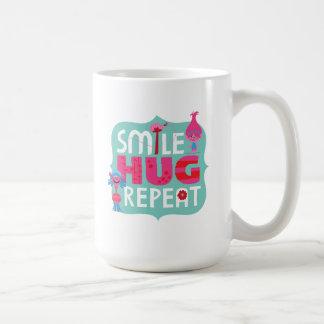 Caneca De Café Sorriso dos troll |, abraço, repetição
