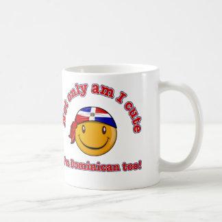 Caneca De Café Sou não somente eu bonito mim sou dominiquense