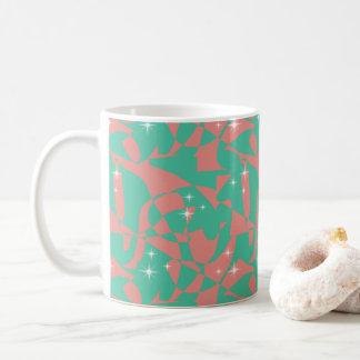 Caneca De Café Sparkles chiques doces do verde da hortelã da luz