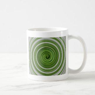 Caneca De Café spiralpattern Verde-branco