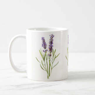 Caneca De Café Sprigs botânicos da planta da erva da lavanda do