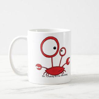 Caneca De Café Sr. Crabby na manhã