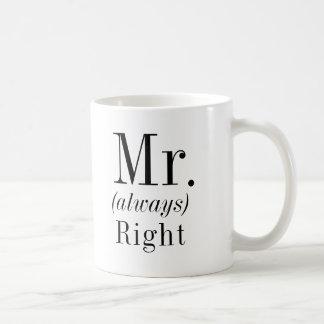 Caneca De Café Sr. Direito e Sr. Sempre Direito Marido