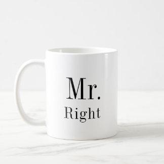 Caneca De Café Sr. Direito e Sra. Sempre Direito Newlyweds