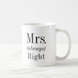 Caneca De Café Sra. Direito e Sra. Sempre Direito Esposa