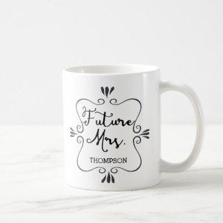 Caneca De Café Sra. do futuro da tipografia