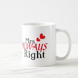 Caneca De Café Sra. (sempre) direito