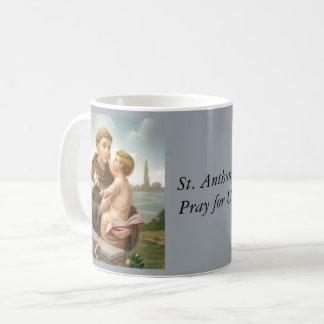 Caneca De Café St Anthony do bebê Jesus de Pádua